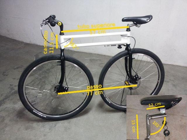 Biciessenziale bicicletta a doppio sterzo autocostruita for Una planimetria della cabina del telaio